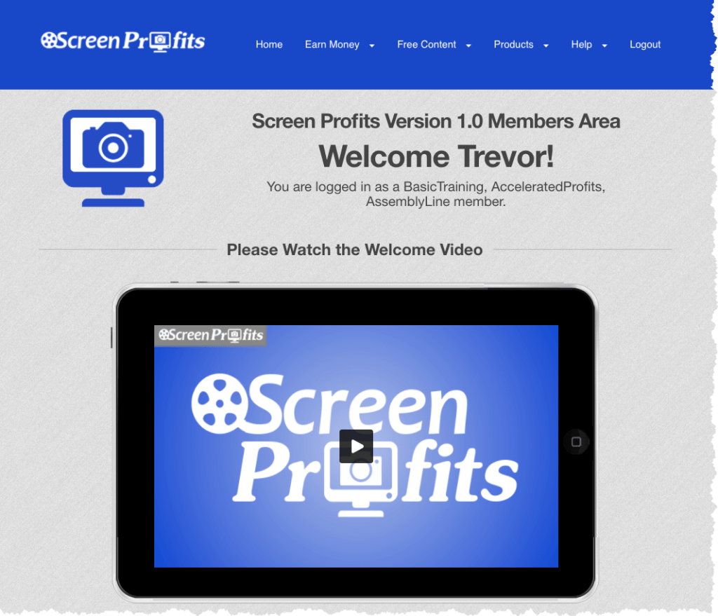 Screen Profits Members Area