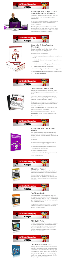 Affiliate Blogging Ninja Bonuses