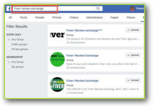 Fiverr Facebook Groups