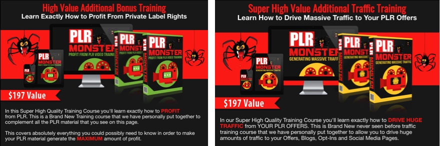 PLR Monster Bonuses